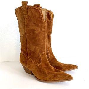 Michael Kors Leather Western Cowboy Boots 9M